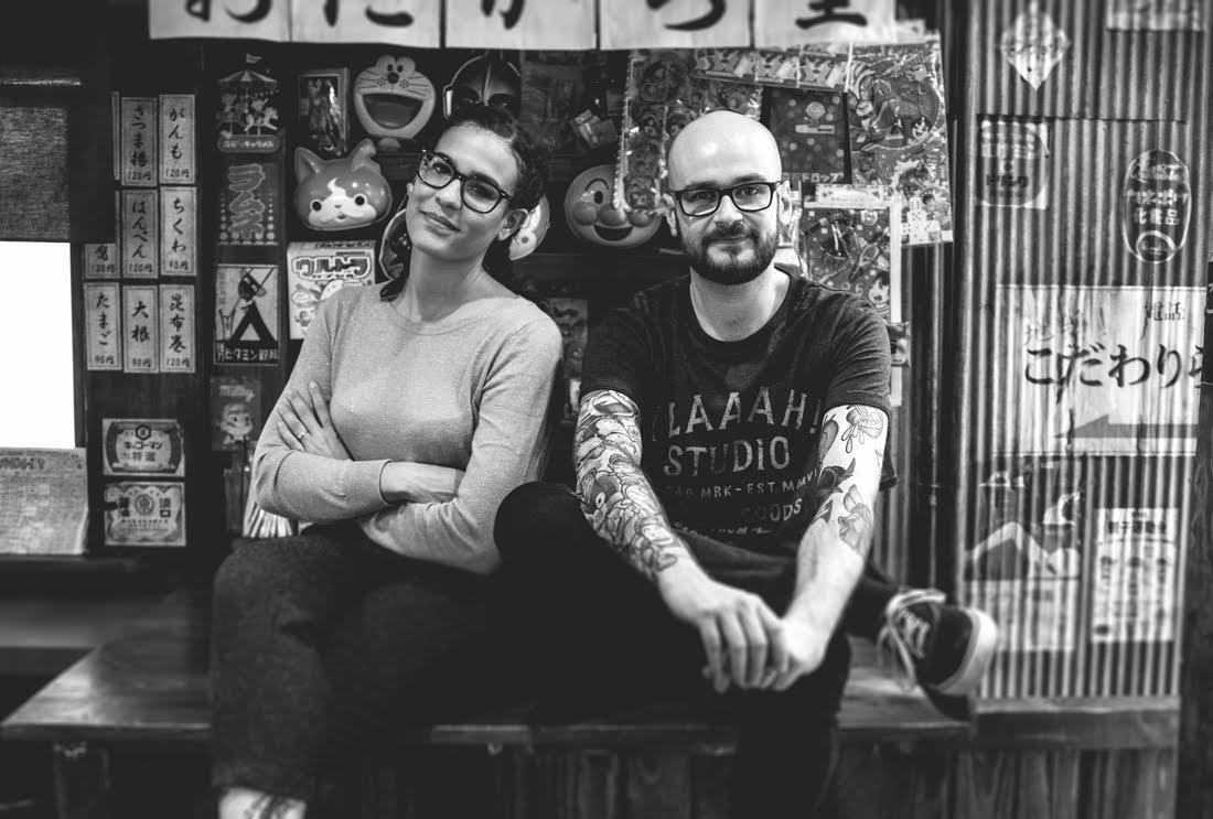 Laura et Stéphane qui forment le duo Yeaaah!Studio