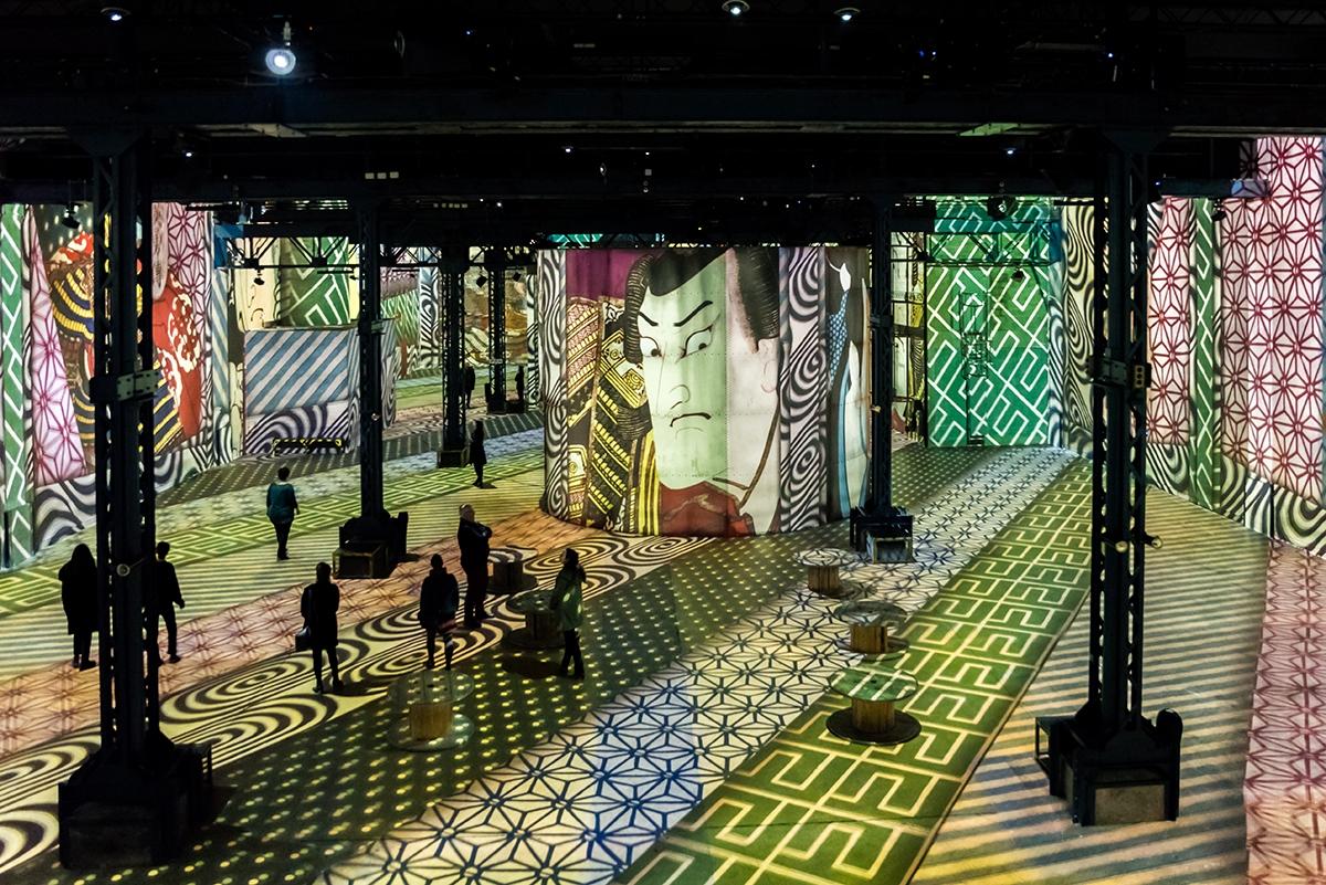 Art japonais à l'Atelier des Lumières