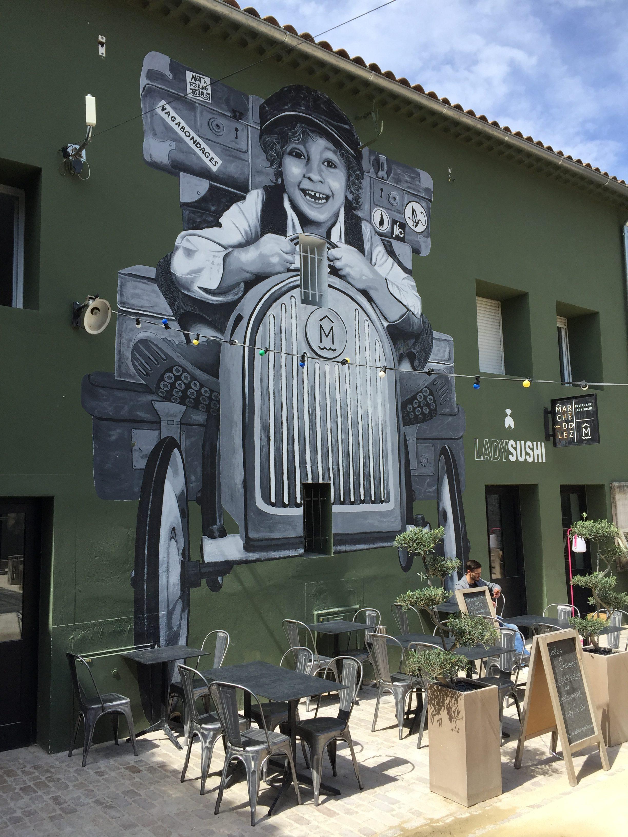 Street art au marché du Lez